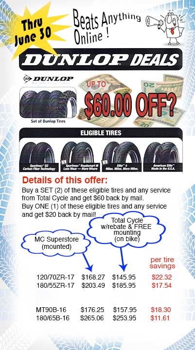 Total Cycle's specials